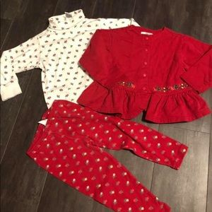 Vtg Gymboree holiday garland sz small 2-3